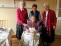 Sr. Eileen Fitzpatrick, Eileen Murphy, Christina Richardson with Jubilarian Sheila