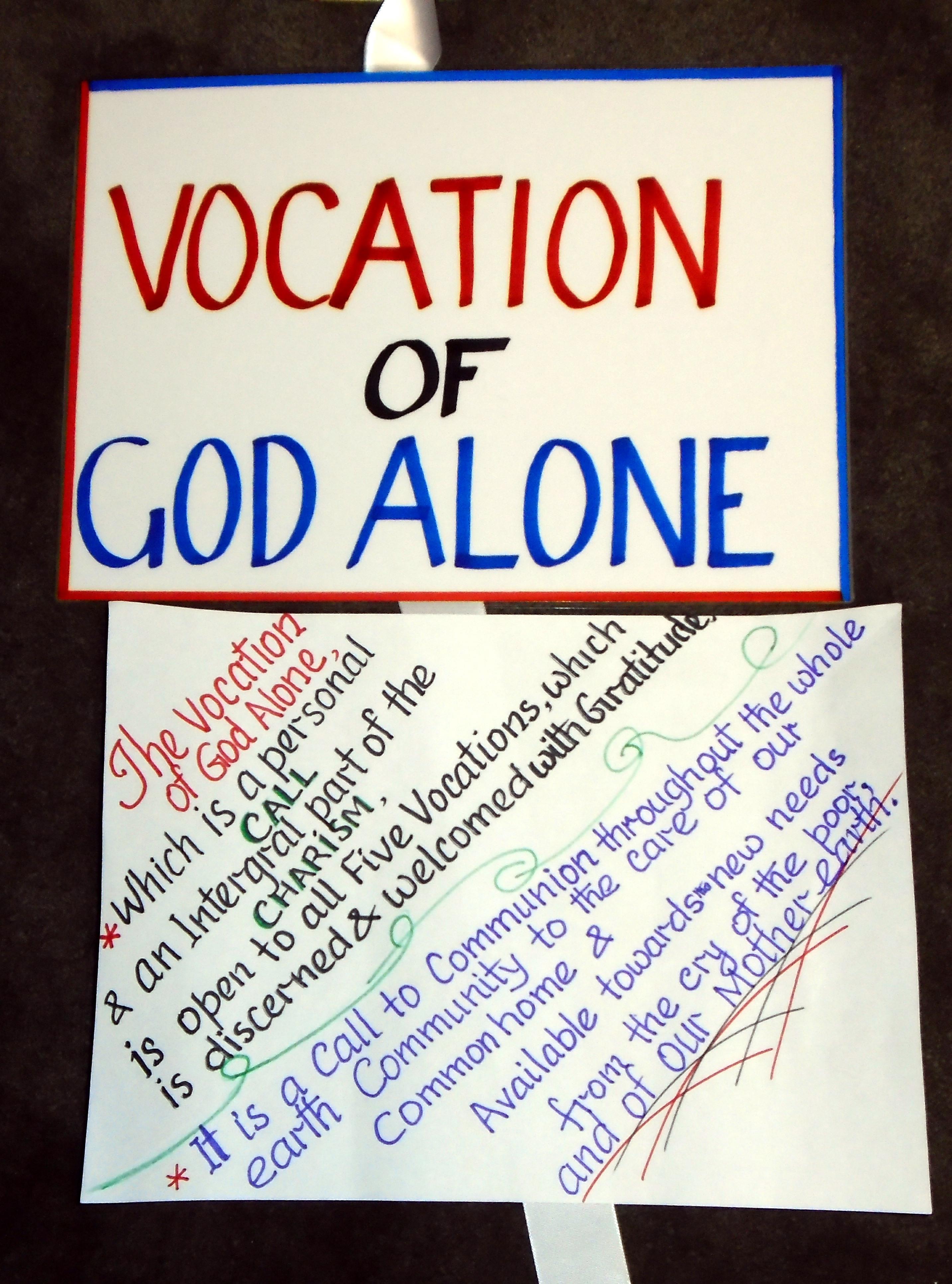 Vocation of God Alone