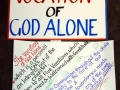 Vocation of God Alone