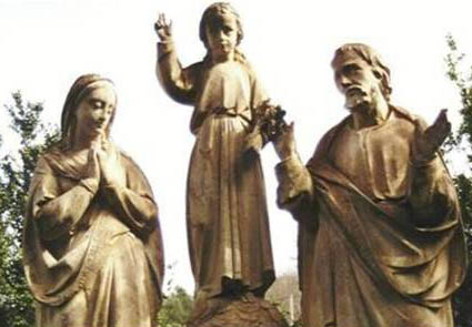 Holy Family Group in the garden of the Contemplative Sisters, Martillac