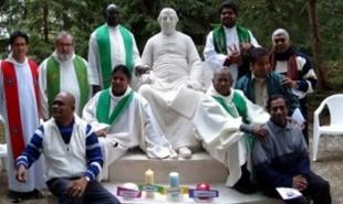 Around Founder's statue