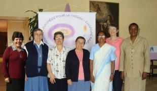 Geni dos Santos, Bernadette Taurinya, Marian Murcia (General Bursar), Ana Maria Alcalde (General Leader), Kumudini Dassanayake, Eithen Hughes, Micheline Kenda