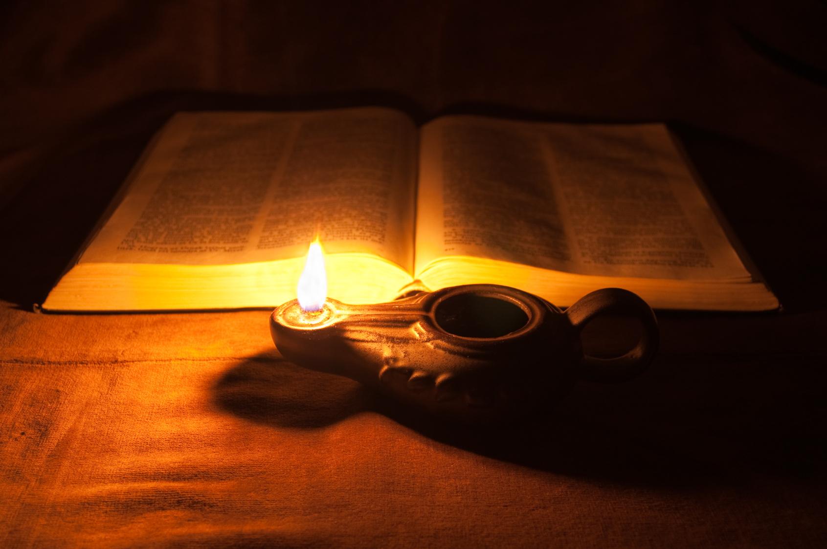 lamp and bible -#main