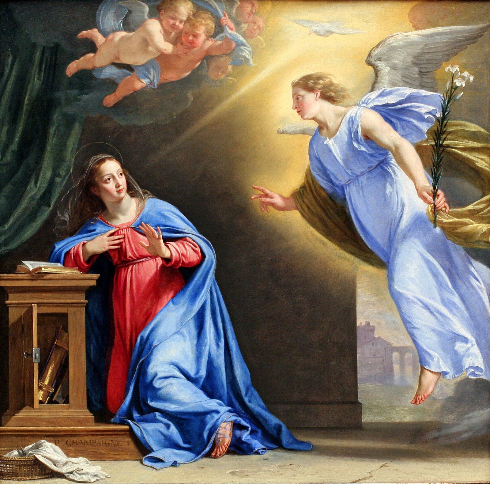 an analysis of the annunciation in the book of luke