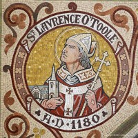 Mosaic medallion of St Lavrence O'Toole in St Patrick's Cathedral in Armagh.