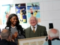 Irish President Higgins with head Girl at the school. jpg